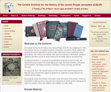 The Central Archives for the History of the Jewish People